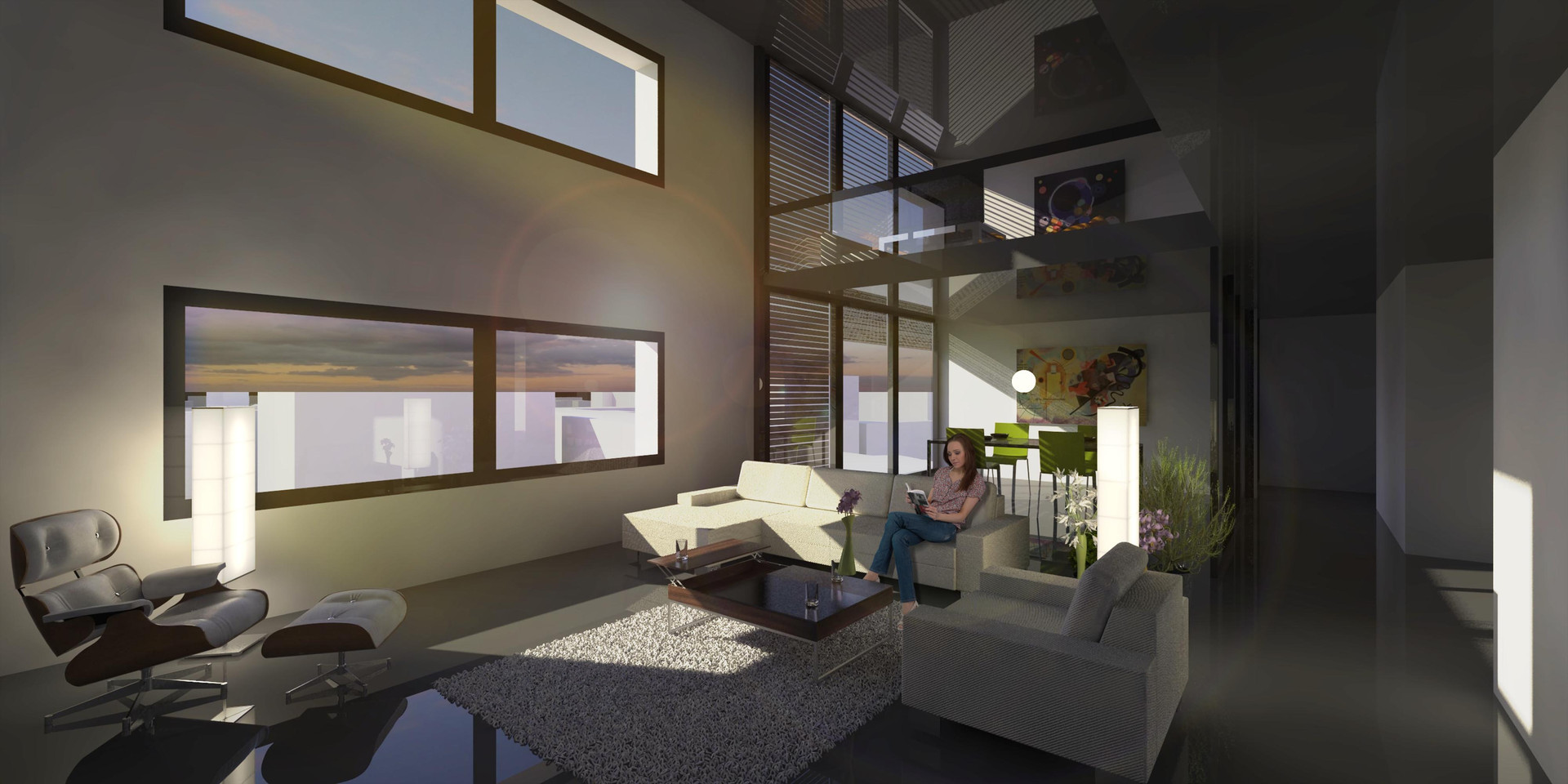 Lima Golf Tower Interior Visualization