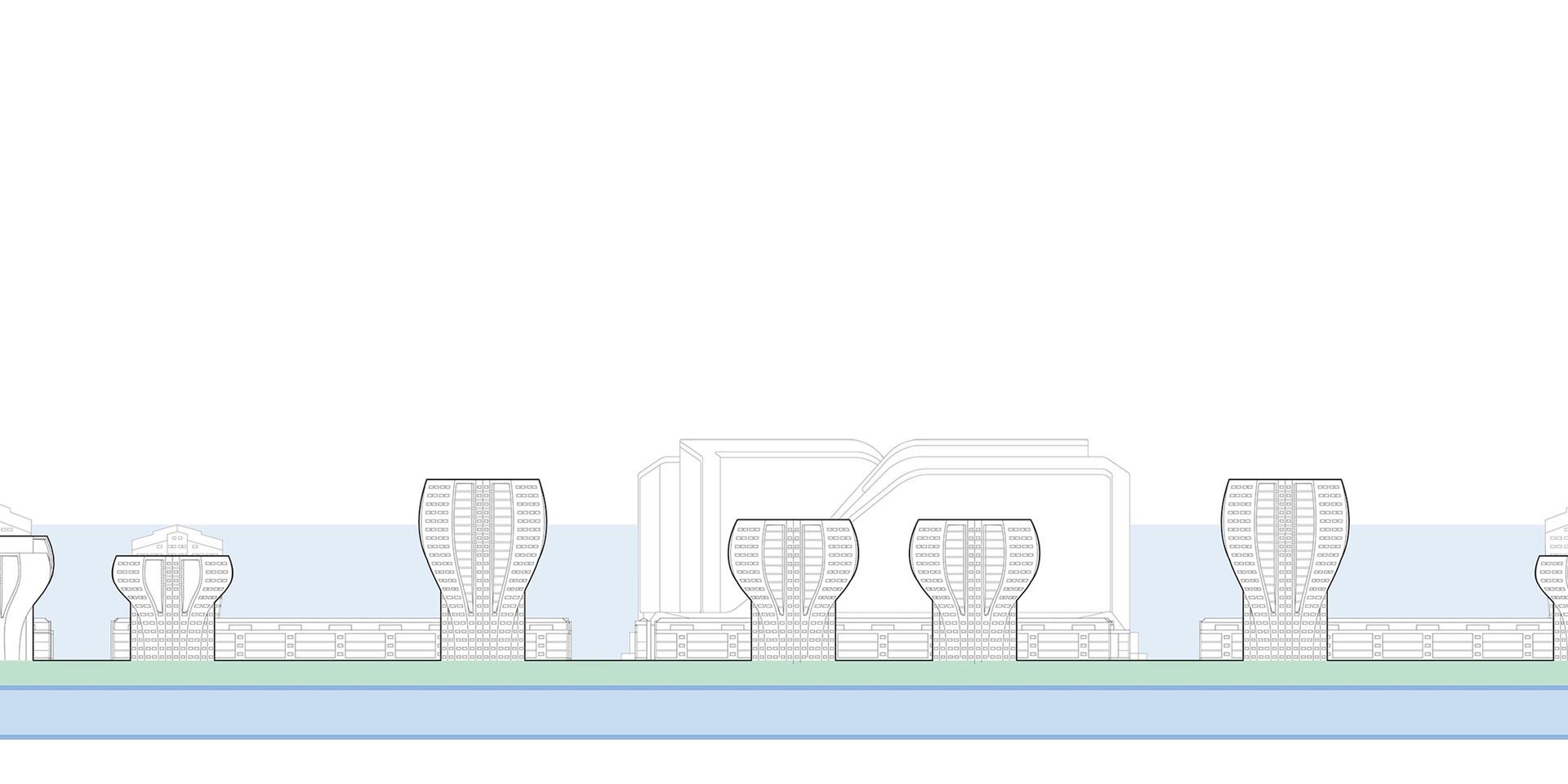 Zim Masterplan Building Site Elevation