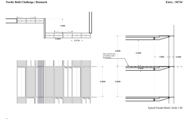 Ellebo Housing Renovation Typical Facade Detail