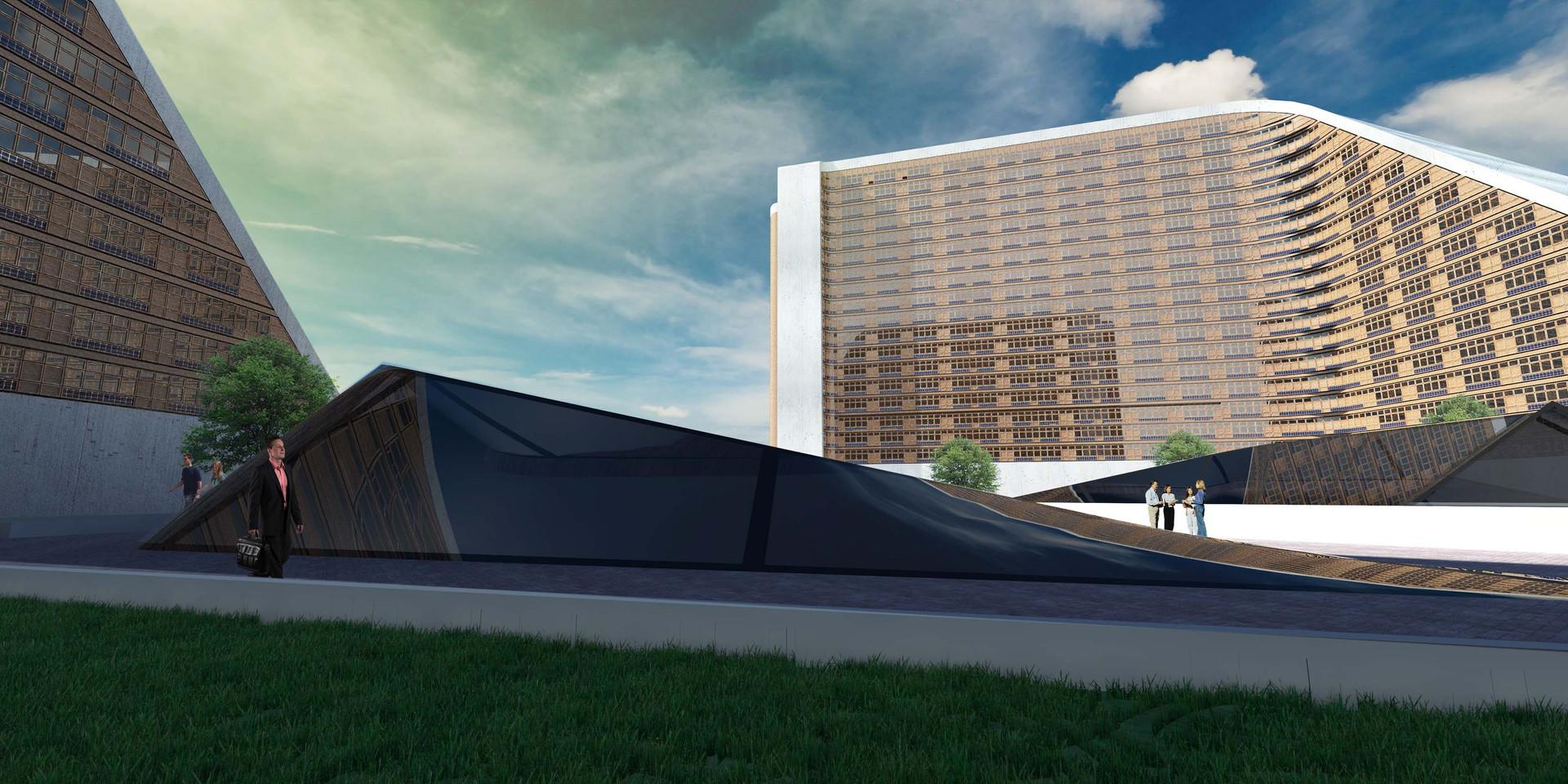 Zim Masterplan Building Type 3 Pedestrian Space