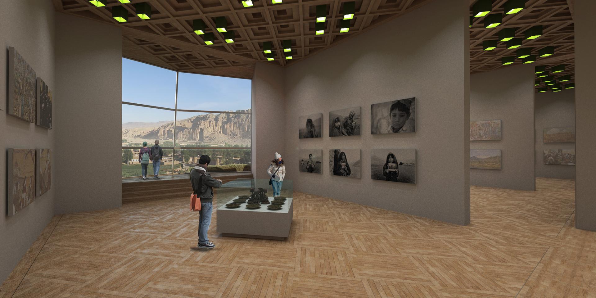 Bamiyan Cultural Center Exhibitions Perspective