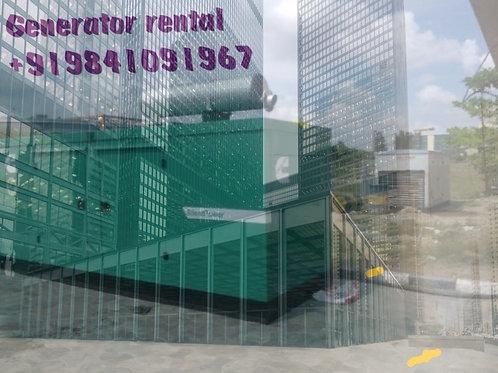 Generator rental - hire