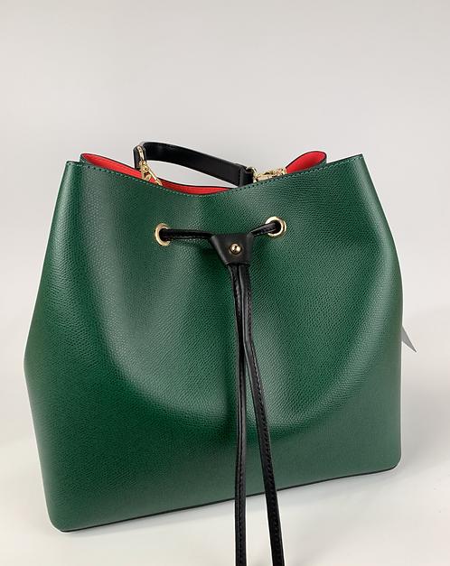 Žalios spalvos odinė rankinė