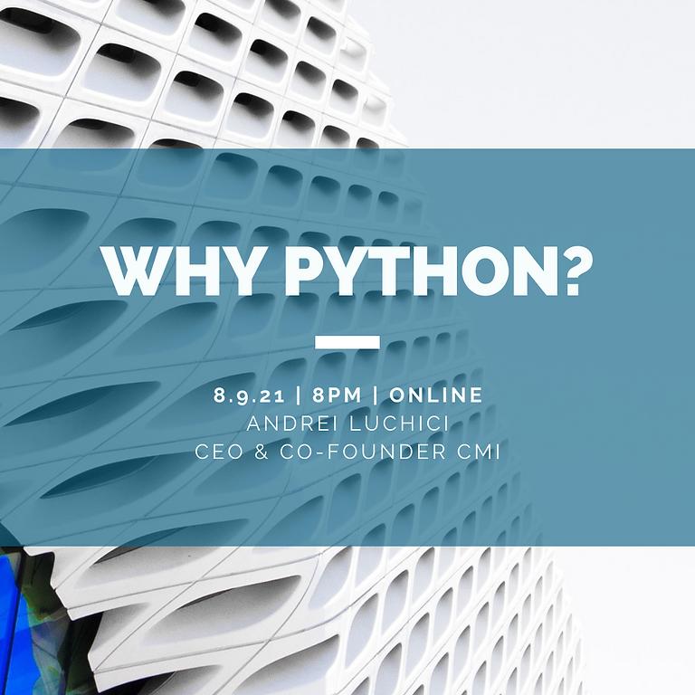 Why Python?