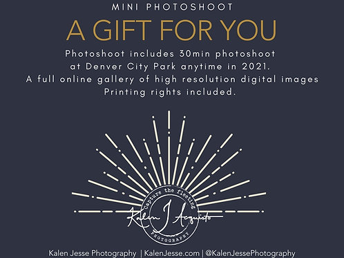 Kalen Jesse Photography Gift Card - Mini Photoshoot