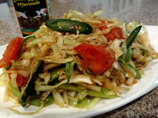 Spicy Cabbage Tomato Stir Fry