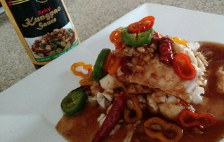 Poached Fish with Kungpao Sauce