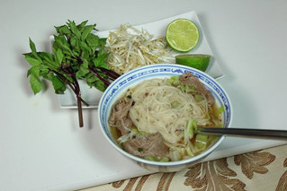 Vietnamese Beef with Rice Noodle Soup (Pho)
