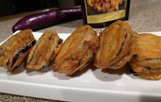 Kungpao Crispy Stuffed Eggplant
