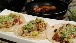 Korean BBQ Fish Tacos