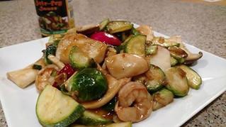 Shrimp Stir Fry with Oyster Mushrooms
