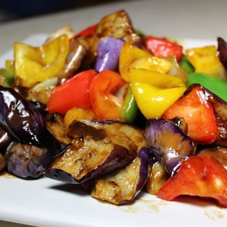 Eggplant Stir Fry with Peppers