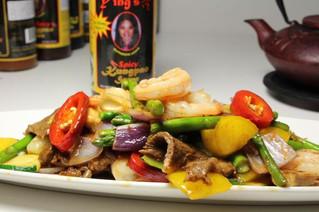 Deluxe Beef Shrimp Stir Fry
