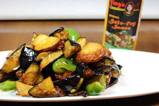 Potato Eggplant Stir Fry