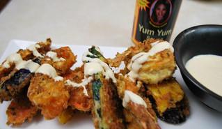 Tempura with Ying's Yum Yum Sauce