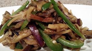 Eggplant Stir Fry with Jalapeno
