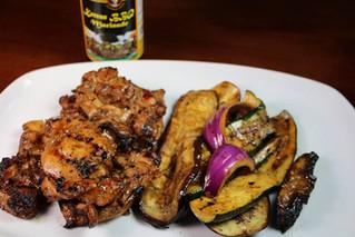 Grilled Korean BBQ Chicken & Vegetables