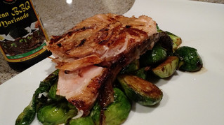 Salmon with Brussels Sprouts