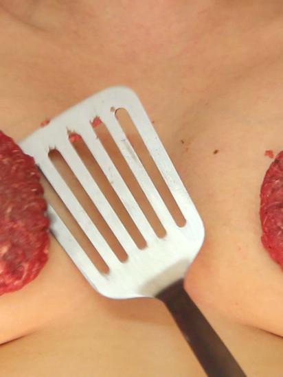 Self Portrait with Meat Patties