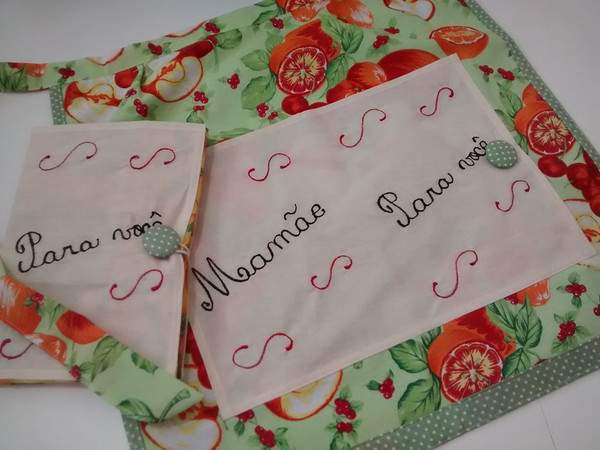Avental Recadinho para Dia das Mães