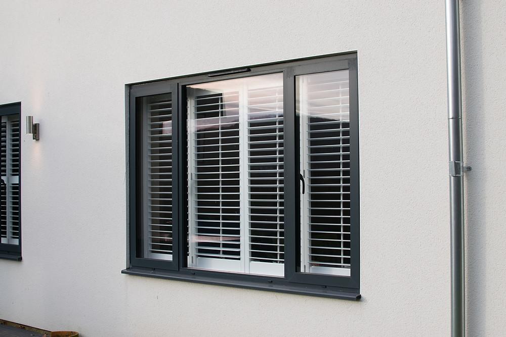 Admiral Windows Oxford Aluminium flush casement window in black colour