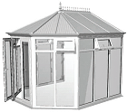 White Full Height Victorian Conservatory special offer £2965 plus VAT