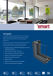 SMART Aluminium Sliding Doors Ultraglide Series Brochure