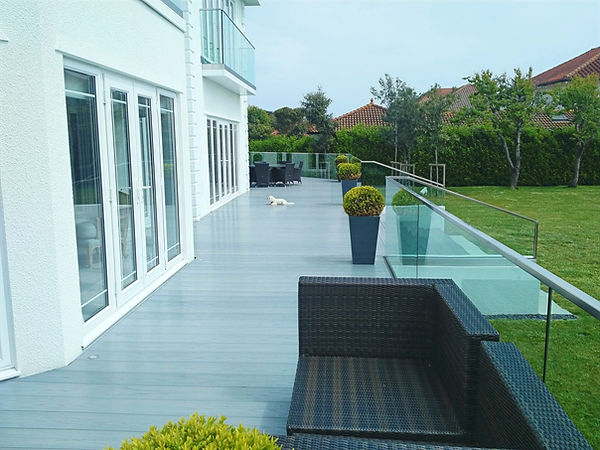 driftwood grey polymer decking
