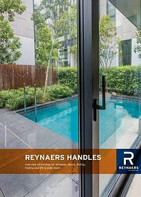REYNAERS Handles for Alumiminium Windows, Doors, Sliding Doors, Bi-Floding Doors Brochure
