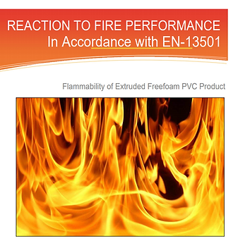 Reaction to Fire Performance of Freefoam Products Fascia, Soffit and Cladding Certificate