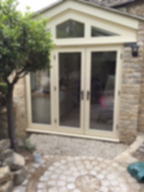 Timber Double Doors in Cream Colour