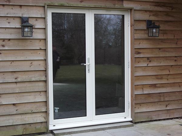 Apollo aluminium double doors in white colour double panes
