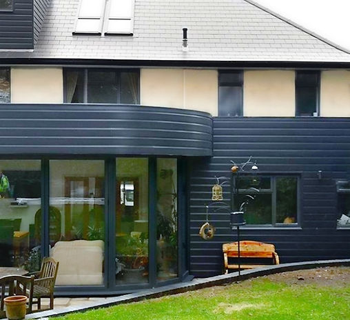 150mm shiplap cladding in Anthracite grey