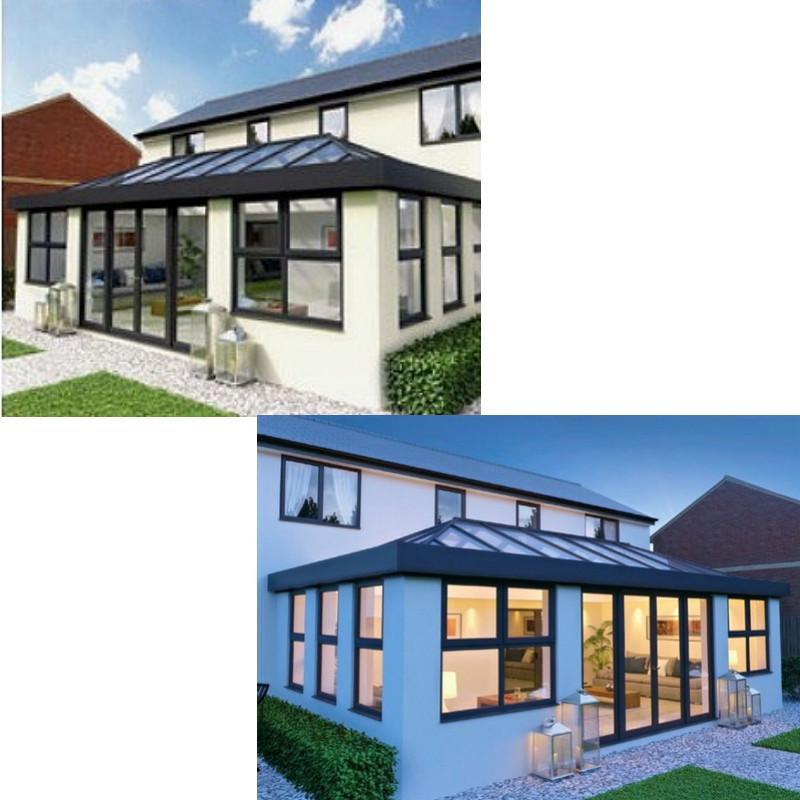 Admiral Windows Oxford Aluminium bi-folding doors aluminium windows and aluminium lantern roof