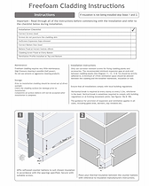 Cladding Installation Instructions from Freefoam Brochure