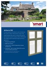 Alitherm 500 Flush casement aluminium Windows From Smart Systems Brochure