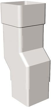 FRS532 Plinth Swan Neck Square Downpipe.