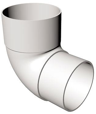 FRR524 90 deg Bend Round Downpipe