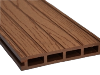 Wood plastic composite deck board in cedar colour