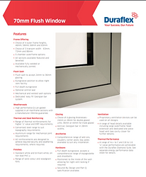 Duraflex 70mm uPVC Flush Casement Windows Brochure