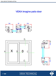 VEKA Patio Doors Imagine Collection Cross Section Technical Guide