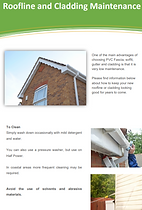 Roofline and Cladding Maintenance Instructions