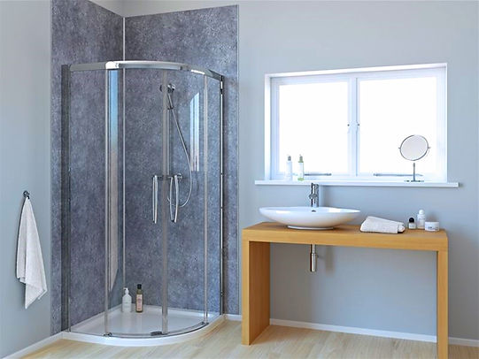 Silver Retro Panels in the Bathroom