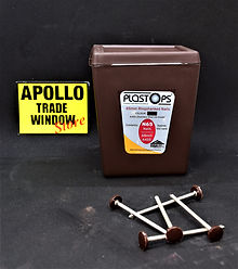 Plastostop 65mm ringshanked nails brown