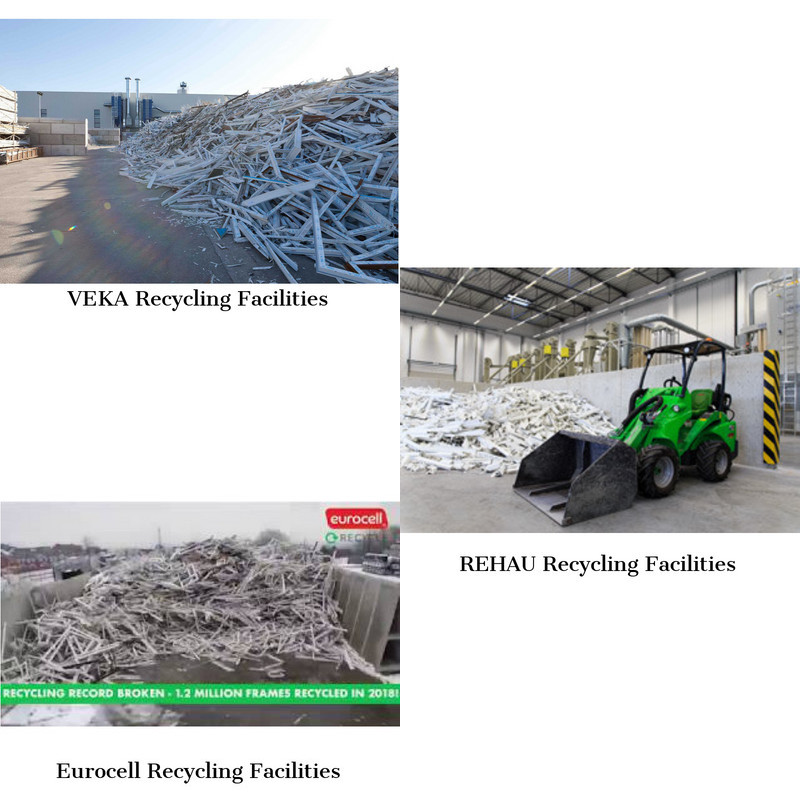 Recycling Facilities of the leading double glazing and building plastics manufacturers VEKA, REHAU, Eurocell