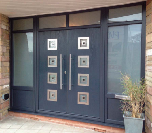 Aluminium French door and side panels