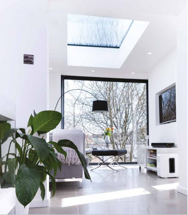 Flat Rooflight inside view