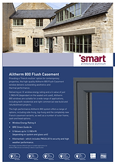 Alitherm 800 Flush Casement from Smart Architactural Aluminium Systems Brochure