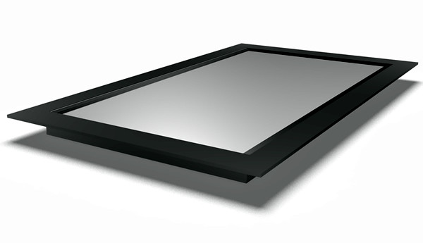 Flat Rooflight with black outer frame