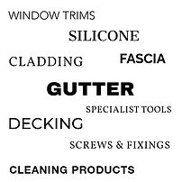 The full list of products available to order at Apollo Trade Window Store including gutter, fascia, cladding, decking, silicone, screws and fixings, cleaning products, specialist tools, colored window trims